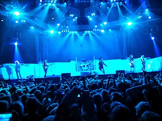 Maiden England World Tour - Iron Maiden performing at Friends Arena, Stockholm. 50,000 of the concert's tickets sold out in 49 minutes.
