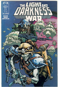 Original cover of issue one of The Light and Darkness War