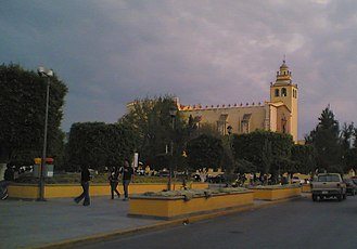Ixmiquilpan - Main plaza of Ixmiquilpan