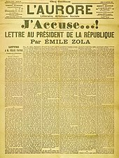Émile Zolas Brief J'accuse (Ich klage an)
