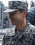 JASDF Major General Hiroshi Watanabe 渡邊博史空将補 (US Navy photo 170605-N-XT039-1035 JASDF Tours Bonhomme RIchard (LHD 6)).jpg