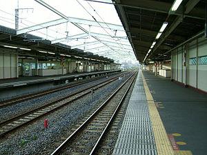 Minami-Nagareyama Station - Musashino Line platforms, June 2008