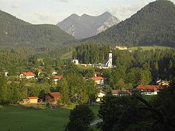 Ortsteil Dorf der Jachenau im August 2008 um 06:00 Uhr