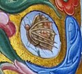 Jacopo filippo argenta e fra evangelista da reggio, antifonario XII, 1493, 08,1 farfalla.jpg