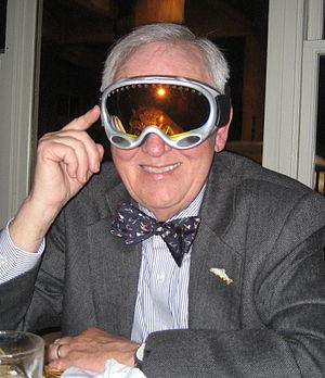 Jan Harold Brunvand - Jan Harold Brunvand trying on a pair of ski goggles on his 75th birthday