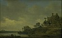 "Jan Josefsz van Goyen - River Scene with the ""Swan"" Tavern - KMS3714 - Statens Museum for Kunst.jpg"
