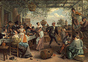 The Dancing Couple - Image: Jan Steen The Dancing Couple Google Art Project