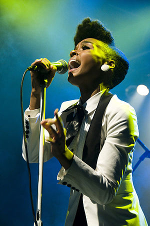 "We Are Young - American R&B singer Janelle Monáe, pictured performing in 2009, is featured on ""We Are Young""."