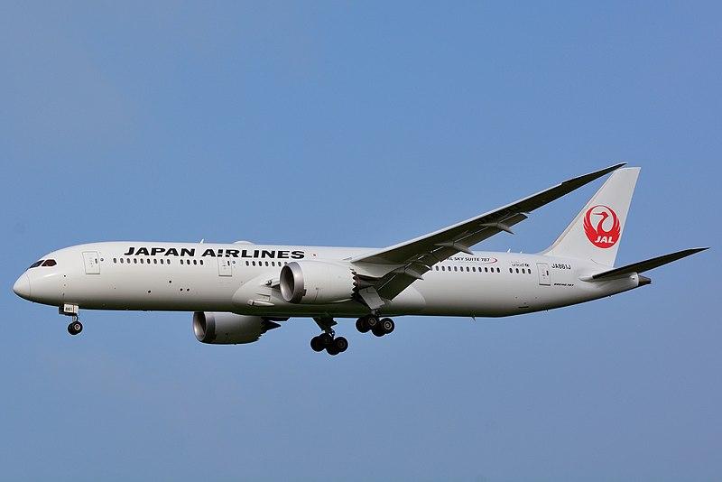 Japan Airlines, Boeing 787-9 JA861J NRT (19455285040).jpg