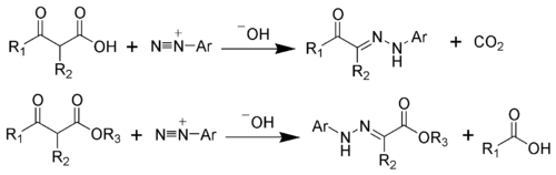 Japp-Klingemann Reaction Scheme.png