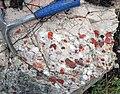 Jasper-quartz pebble conglomerate (Lorrain Formation, Paleoproterozoic, ~2.3 Ga; Ottertail Lake Northeast roadcut, near Bruce Mines, Ontario, Canada) 57 (32766158687).jpg