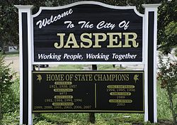 Skyline of Jasper, Alabama