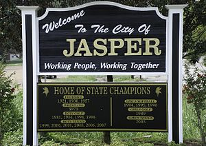 Jasper, Alabama - Image: Jasper sign (1 of 1)