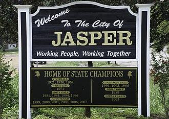 Jasper, Alabama - Image: Jasper sign (1 of 1)