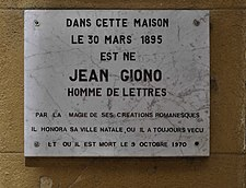 Jean Giono's house in Manosque.JPG
