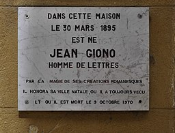 Jean Giono's house in Manosque