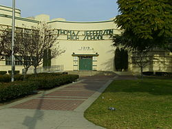 Jefferson High Front entrance1.JPG