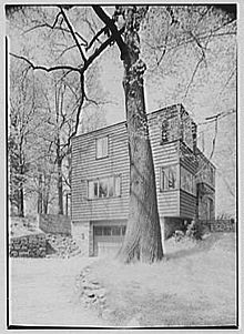 Jesse Oser House, Elkins Park, Pennsylvania (1940). Louis Kahn ...