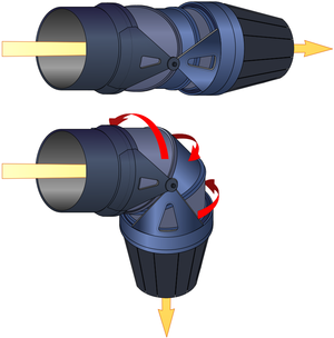 Pratt & Whitney F135 - Thrust vectoring nozzle of the F135-PW-600 STOVL variant