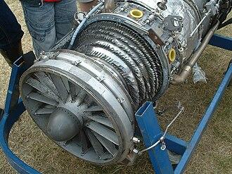 Bird strike - Inside of a jet engine after a bird strike