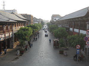 Jianshui County - Street in central Jianshui
