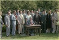 Jimmy Carter signs the Chattahoochee River National Recreation Area into law. - NARA - 180795.tif