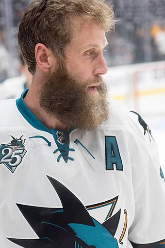 Recording 745 regular season assists as a Shark, Joe Thornton holds the all-time record for assists recorded with the team. Joe Thornton 2016.jpg