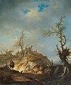 Johann Alexander Thiele - A hilly landscape with travellers.jpg