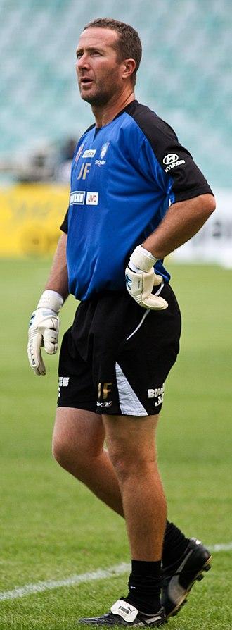 John Filan - Filan warming-up with Sydney FC