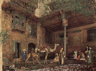 Hof im Haus des Malers in Cairo