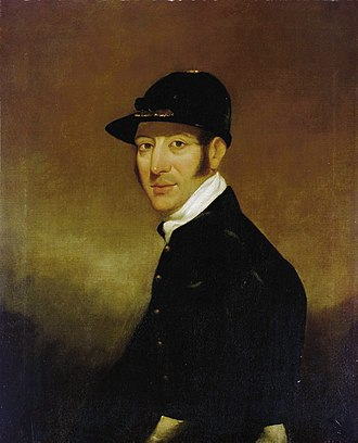 Jack Spigot - Bill Scott rode Jack Spigot for many of his early races but was disliked by the horse (portrait by John Hayes (painter)).