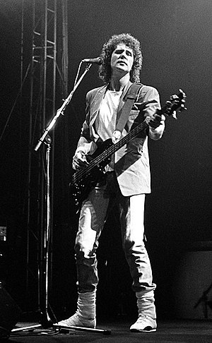 John Illsley - Illsley playing with Dire Straits on their Brothers In Arms Tour, on 10 May 1985, Belgrade