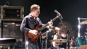 John Paul Jones (musician) - Jones playing bass in Them Crooked Vultures
