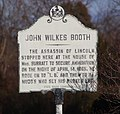 John Wilkes Booth marker - Mary Surratt House.jpg