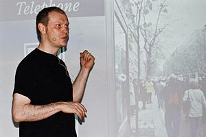 Jonathan Barnbrook - Barnbrook at the TYPO conference in 2008