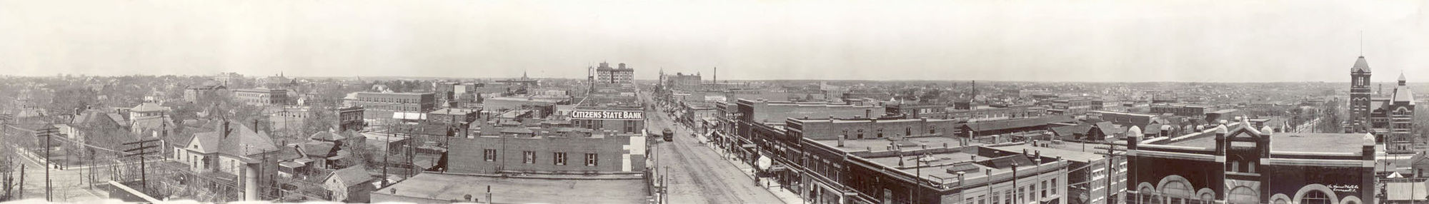 Panorama Of Joplin In 1910