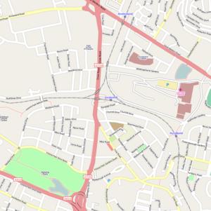 Jordanhill railway station - Jordanhill station as shown on OpenStreetMap