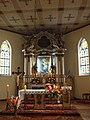 Jordanowo. Kościół św. Anny. Ołtarz Św. Anna stojąca nad Matką Bożą. Figury św. Józefa i św. Joachima.jpg