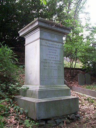 Joseph Emerson Worcester - Grave of Joseph Worcester in Mount Auburn Cemetery