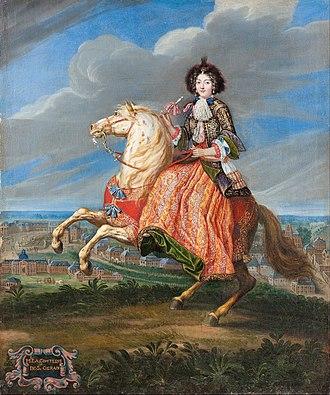 Riding habit - Image: Joseph Parrocel, attributed to Madame La Comtesse de Saint Géran Google Art Project