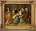 Joseph highmore, sei scena dalla pamela di samuel richardson, XI, pamela chiede la benedizione di sir jacob swinford, 1743-44.jpg