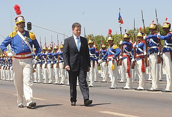 Juan Manuel Santos receives honours