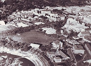 Jubilee Oval (Adelaide) - View of the former Jubilee Oval from an aeroplane (c. 1936)