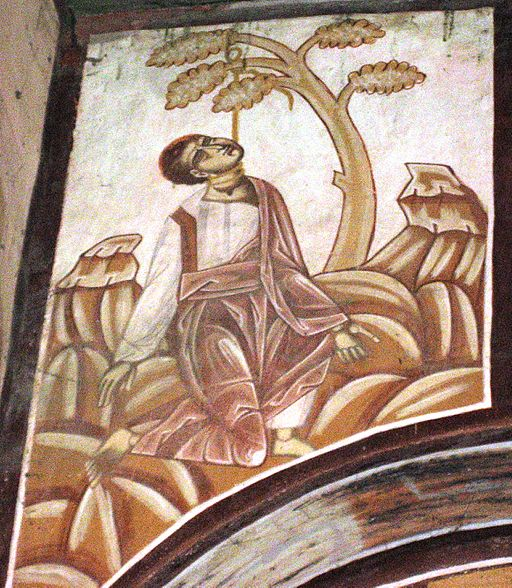 Judas hangs himself. Gelati fresco