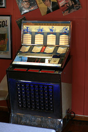 Jukebox in Glopheim café, Norway.