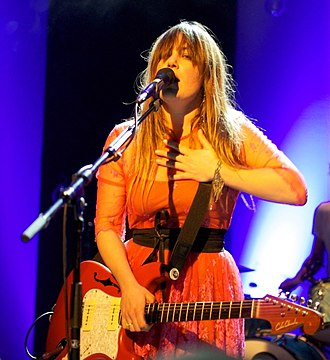 Angus & Julia Stone - Julia performing at the Motel Mozaïque, Rotterdam, The Netherlands, April 2012.