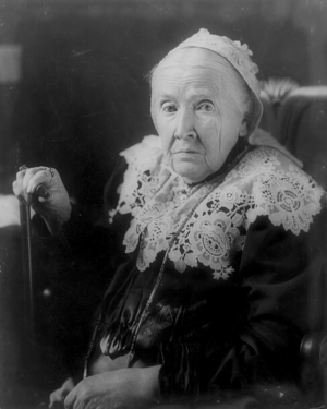 Julia Ward Howe, half-length portrait, seated,...
