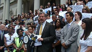 Bill de Blasio - ACS Preventitive Services Rally in May 2010