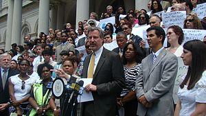 Bill de Blasio - ACS Preventitive Services Rally in May 2010