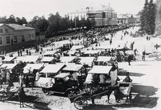 Jyväskylä - Jyväskylä town square in the early 20th century